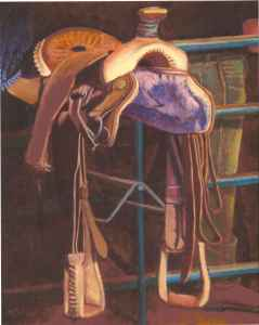 Painting of saddle