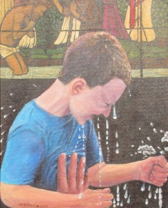 boy after baptism