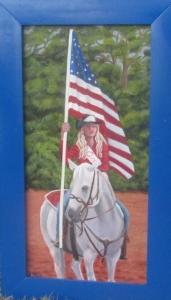 American Rodeo Queen Original oil 10 x20